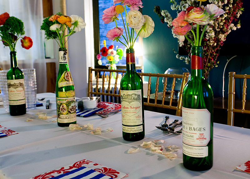 A special valentine s celebration girlfriends edition for Wine bottle flower vase