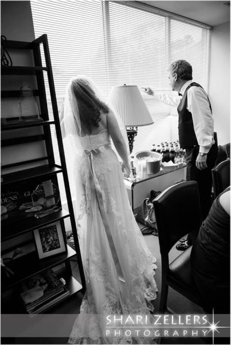 Bride and Dad waiting impatiently ~ Shari