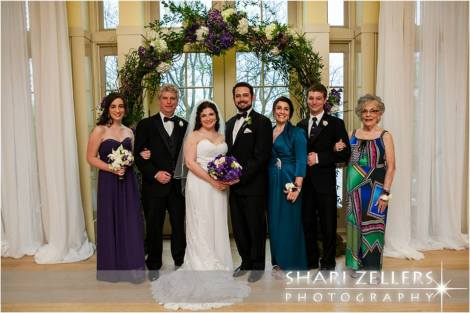 Bride and Groom with brides family ~ Shari