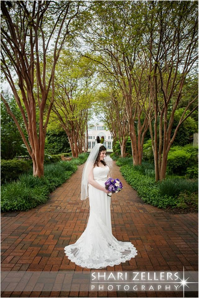 Bride in Garden by Shari