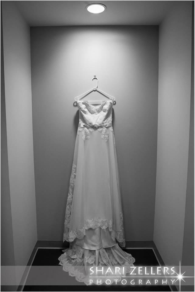 Brides dress by Shari