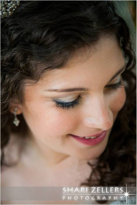 Brides face by Shari