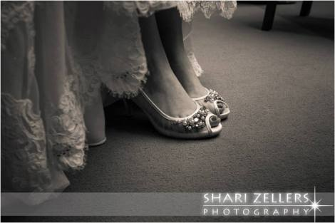 Brides feet in shoes by Shari
