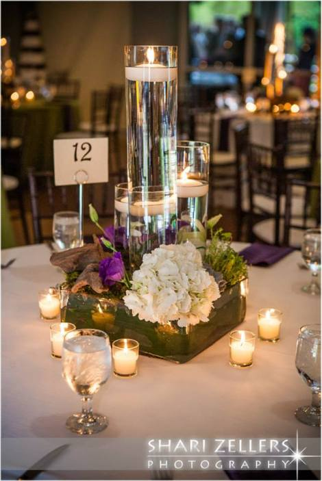Candle Centerpiece by EventScapes ~ Shari