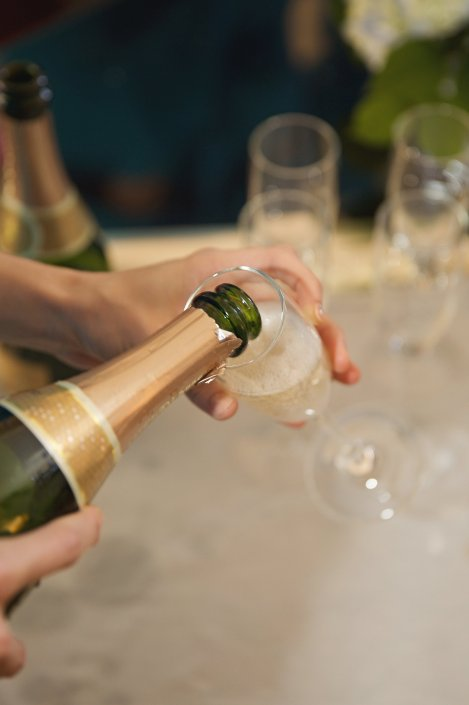 Popping the Bubbly!  Cheers!