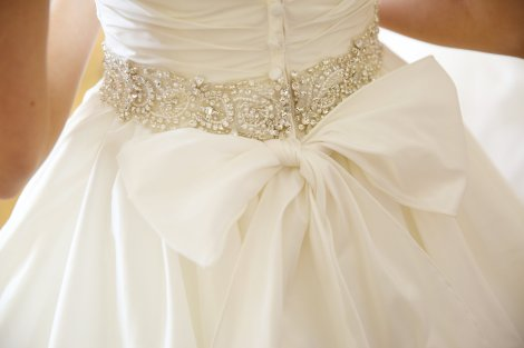 Back of Brides gown