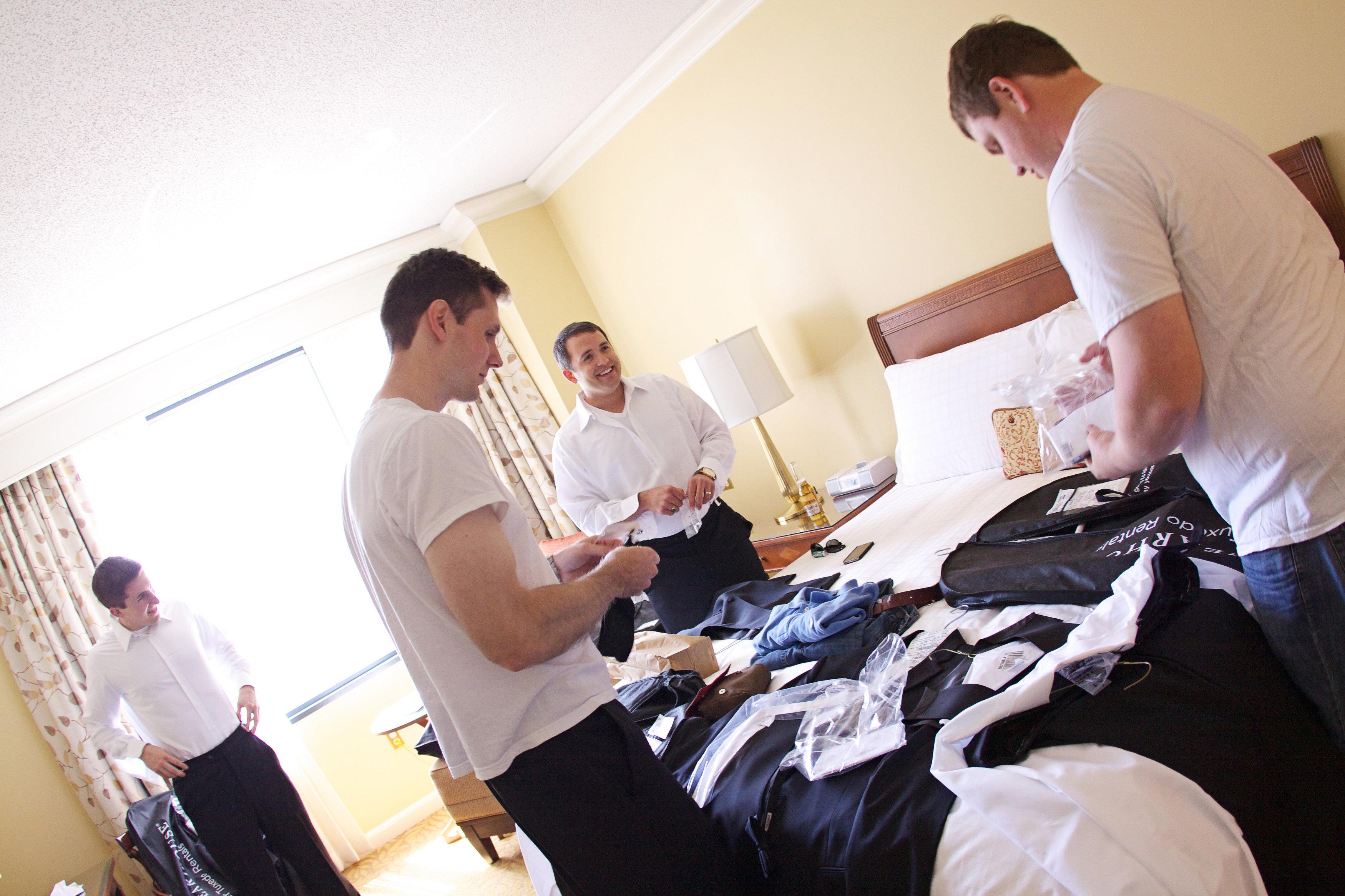 Guys getting ready