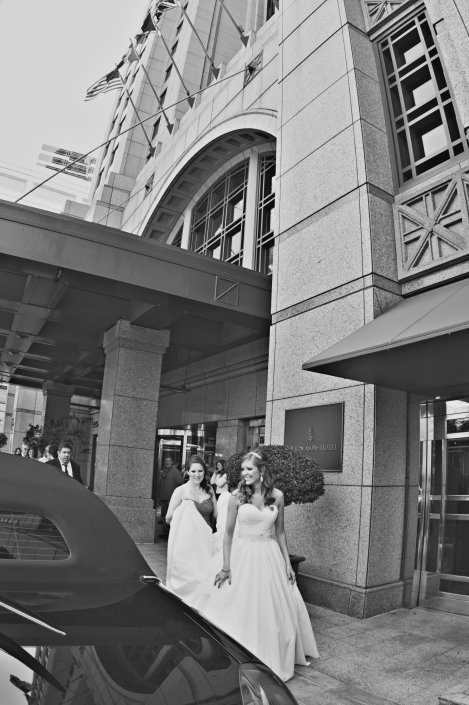 Bride Leaving hotel for the Ceremony