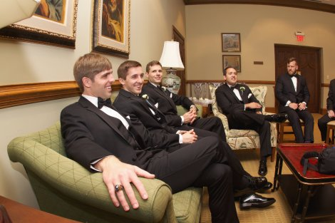 Guys chillin before the ceremony