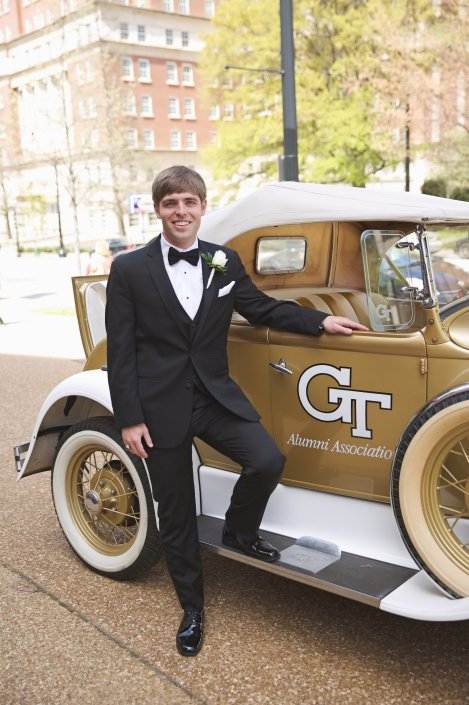 Groom with the GT Ramblin Wreck
