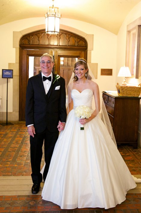 Bride and her dad before the walk down the aisle