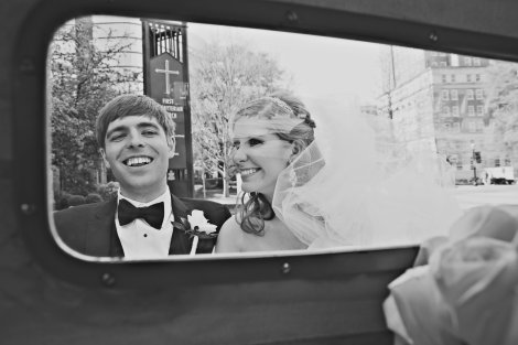 Happy Couple in the Ramblin Wreck