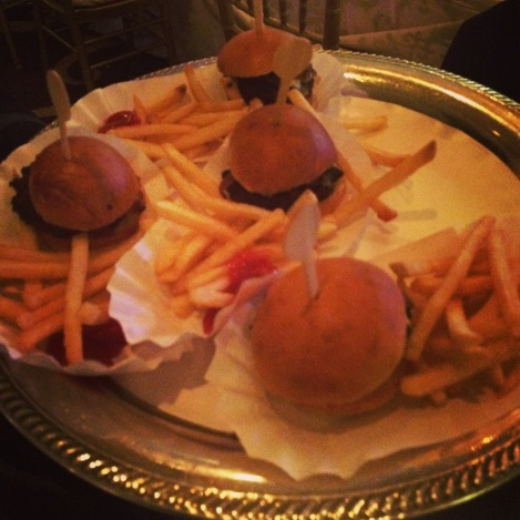 Late Night Snack ~ Sliders and Fries