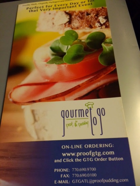 Gourmet to Go Menu