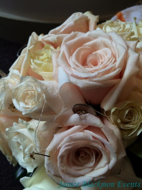 Brides bouquet detail by EventScapes