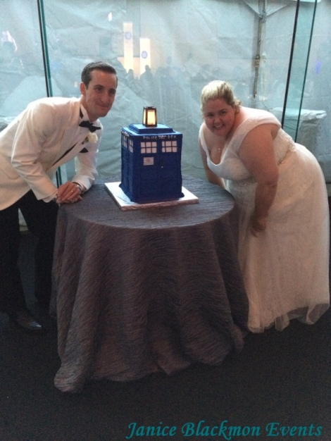 Tardis Cake by Classic Cheesecakes and Cakes