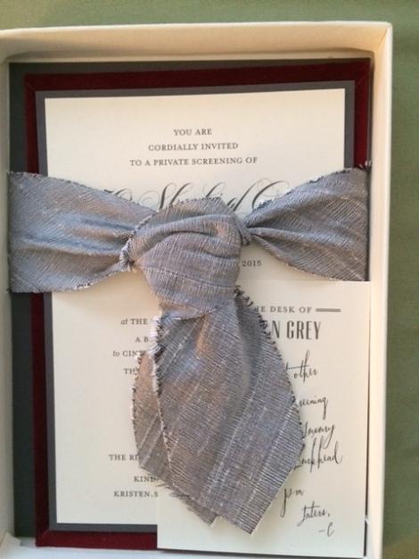 50 Shades of Grey invitation
