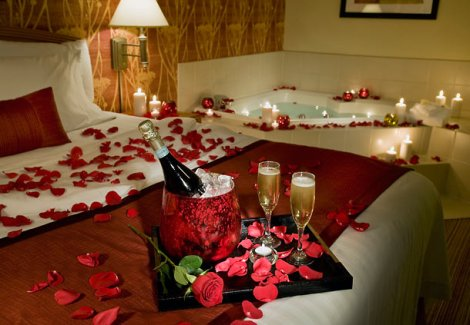 Champagne roses and bubble bath