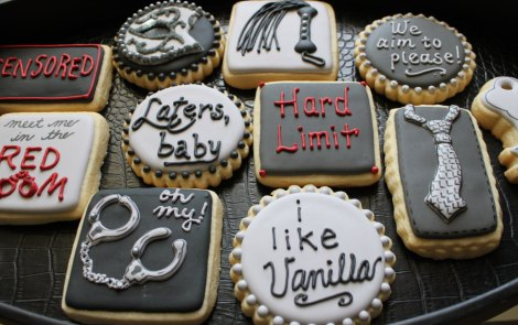 Fifty Shades of Grey caption cookies