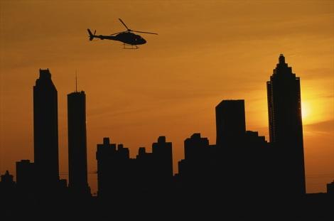 Helicopter tour over Atlanta