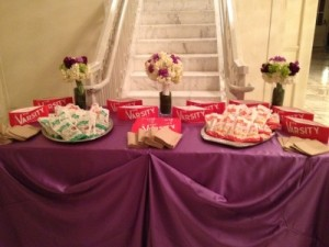 Favor Table of Varsity Pies