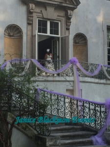 Bride beginning her processional