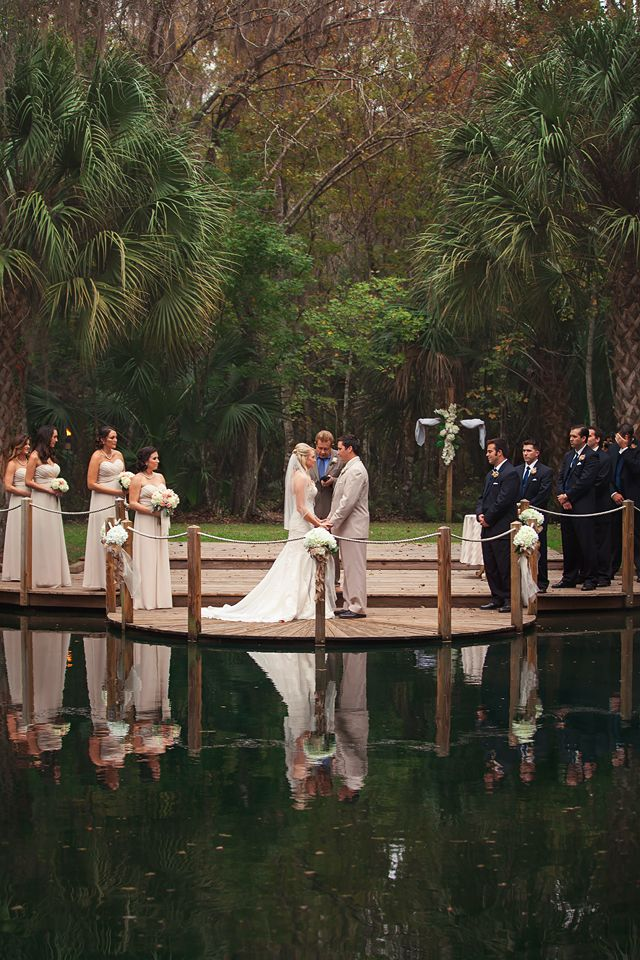 Ceremony at Windsong Oaks Sarasota by Lauren Bates Photography