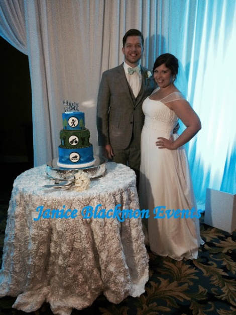 Couple at Groom's cake