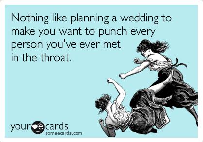 Stressed bride ecard