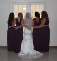Bridal party backs