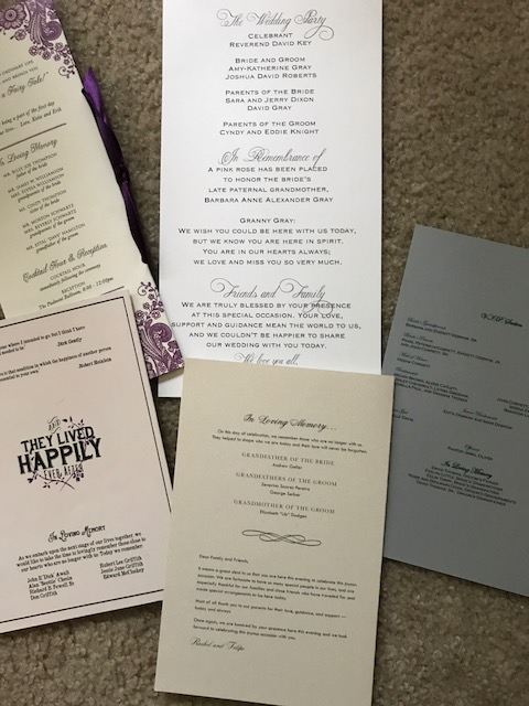 Ceremony Program In Memory